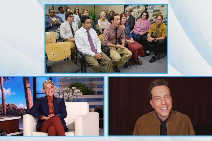 "Ed Helms on ""The Ellen DeGeneres Show""."