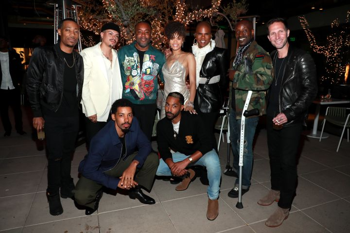 Tyler James Williams, Evan Ross, Melvin Gregg, Lee Daniels, Andra Day, Tone Bell, Miss Lawrence, Rob Morgan and Blake Anthony DeLong attend Spring Place's Oscars party. Photo: Jerritt Clark/Getty Images for Bassline Management