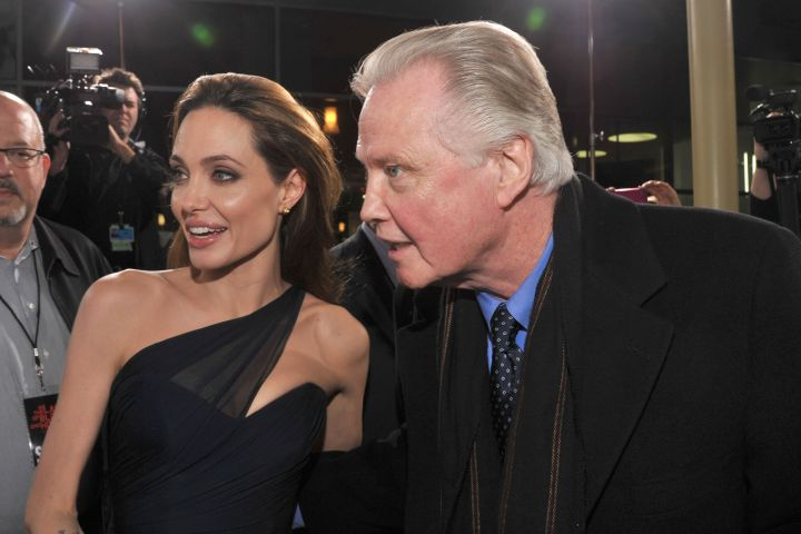Angelina Jolie and actor Jon Voight