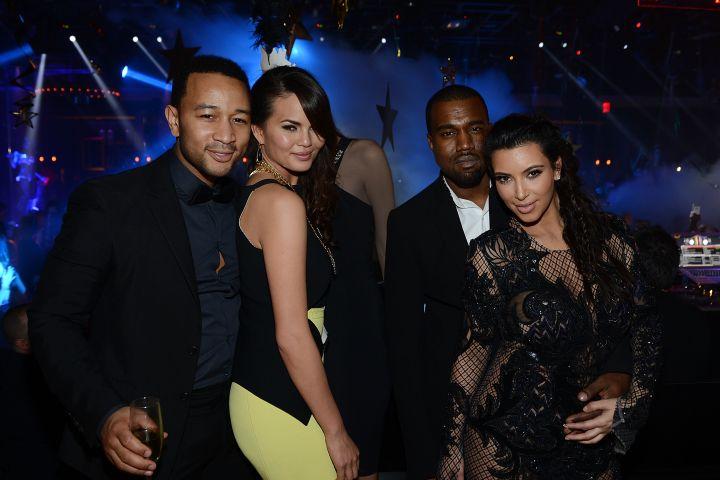 John Legend, Chrissy Teigen, Kanye West and Kim Kardashian
