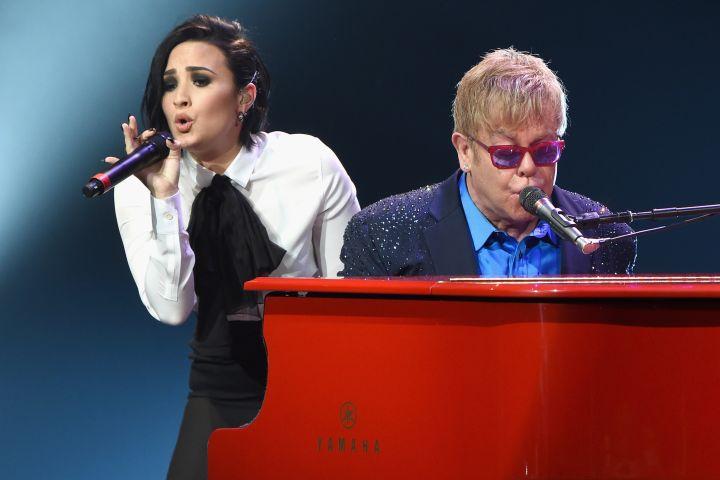 Demi Lovato, Elton John.