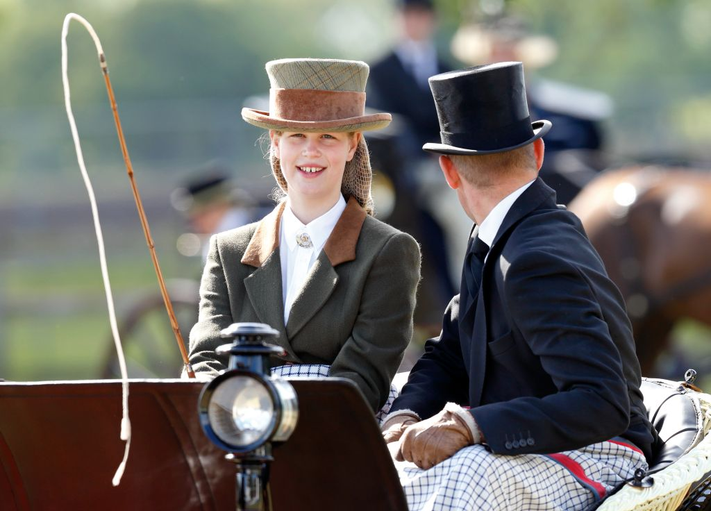 Lady Louise Windsor seen carriage driving as she takes part in The Champagne Laurent-Perrier Meet of the British Driving Society. Photo: Max Mumby/Indigo/Getty Images
