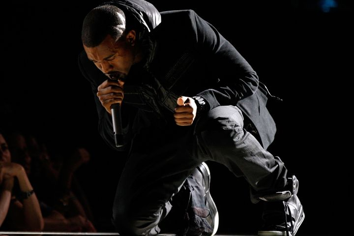Kanye West performs onstage during the 50th annual Grammy awards held at the Staples Center on February 10, 2008 in Los Angeles, California.