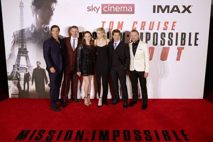 Henry Cavill, Frederick Schmidt, Rebecca Ferguson, Vanessa Kirby, Tom Cruise and Simon Pegg