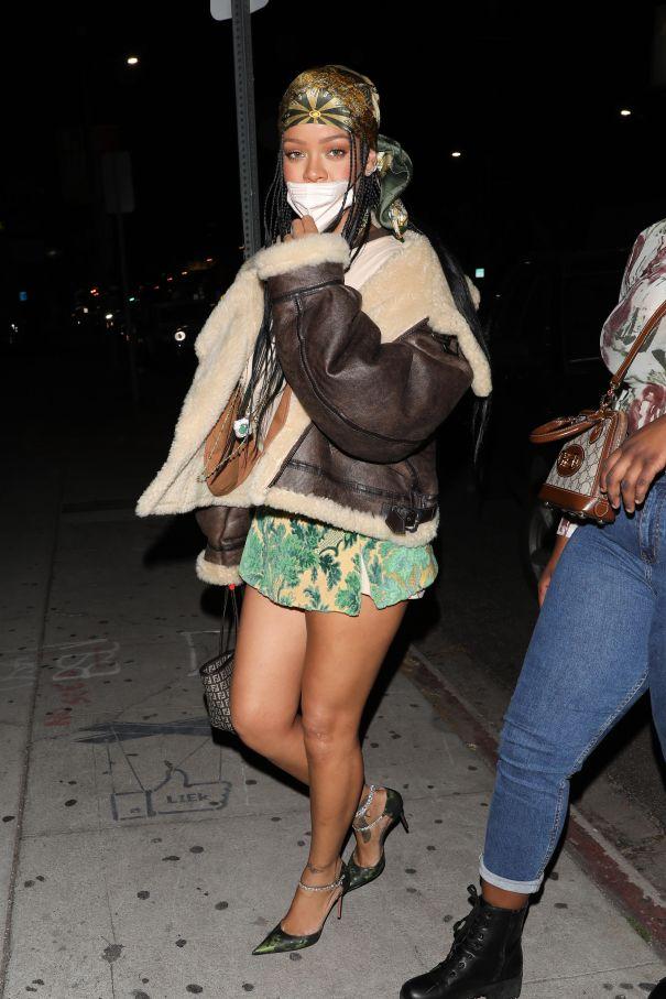 Rihanna Heads For Dinner