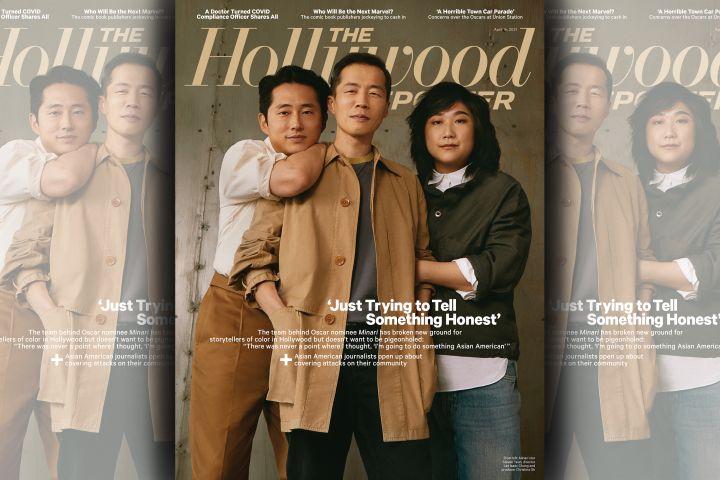 Steven Yeun, Lee Isaac Chung and Christina Oh