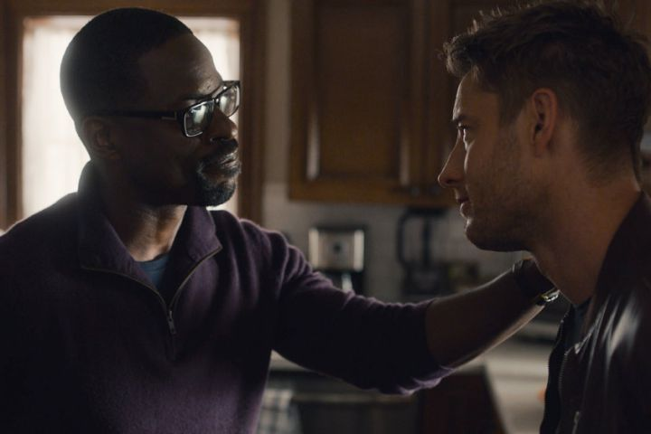 """Sterling K. Brown and Justin Hartley in """"This Is Us"""""""