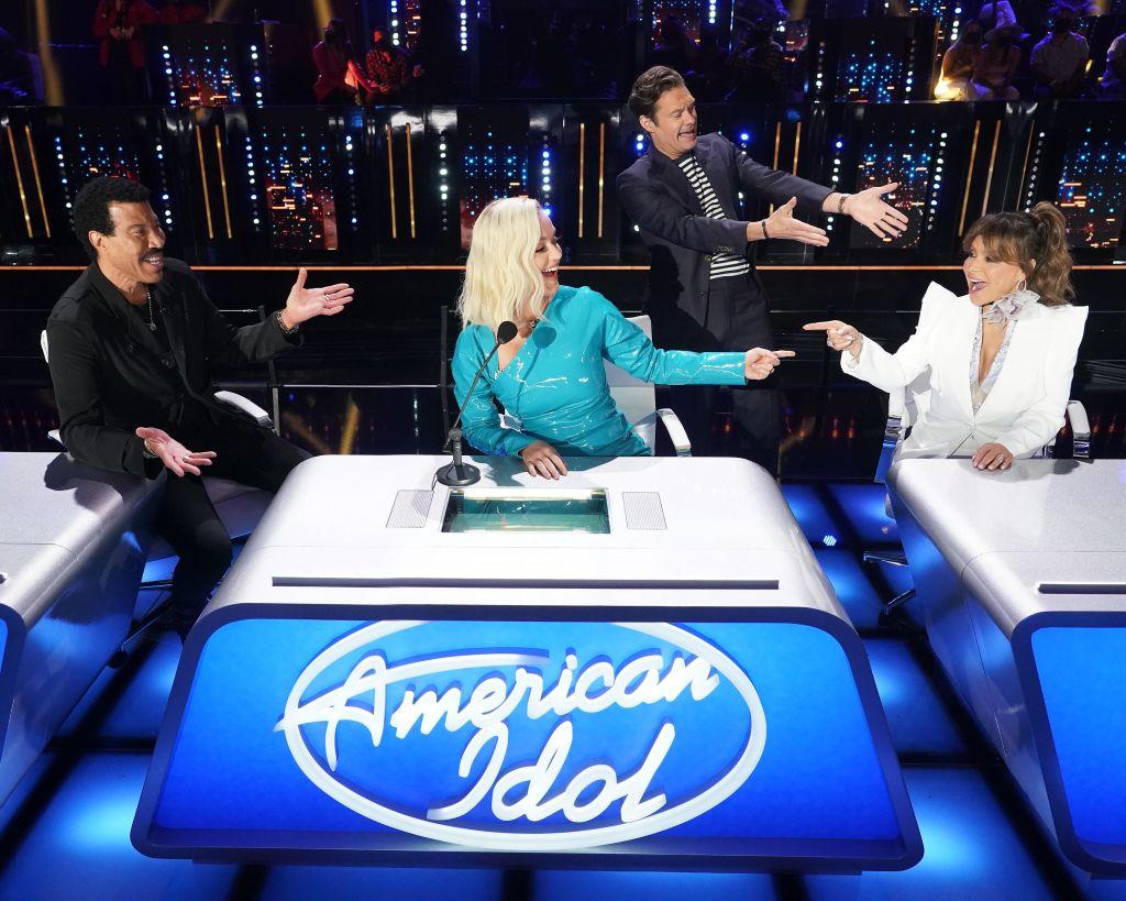 "Lionel Richie, Katy Perry, Paula Abdul, Ryan Seacrest on ""American Idol"". Credit: ABC/Eric McCandless"