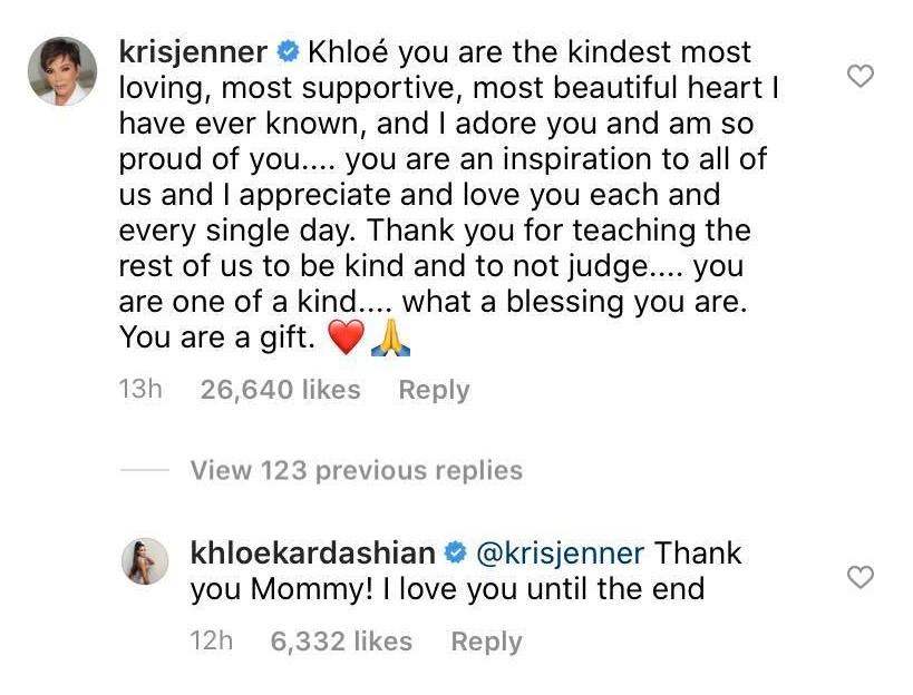 Credit: Instagram/Khloe Kardashian