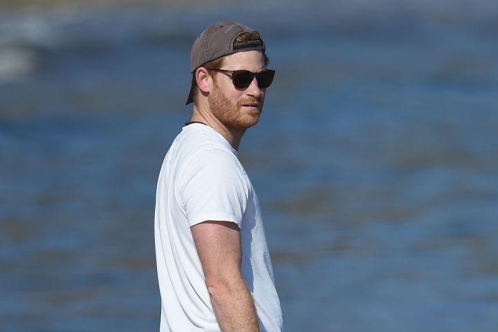 Prince Harry on the beach