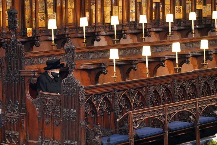 Queen Elizabeth at Prince Philip's Funeral