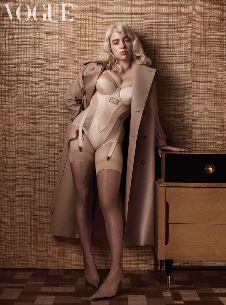 Billie Eilish in British Vogue. Photo: Craig McDean