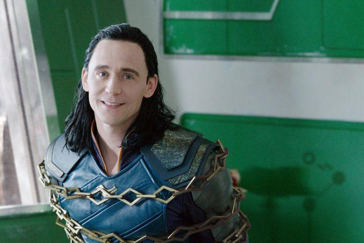 "Tom Hiddleston as Loki in ""Thor: Ragnarok"""