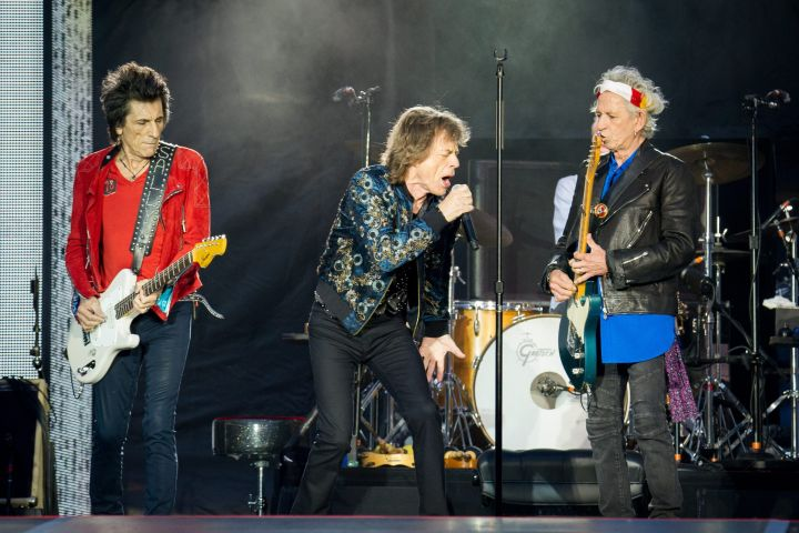 Mick Jagger, Keith Richards, Ronnie Wood and Charlie Watts of The Rolling Stones