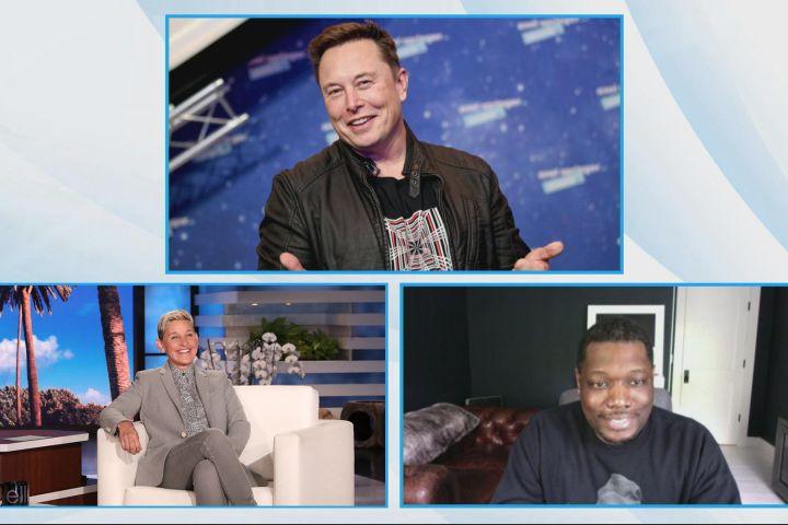 """Michael Che discusses Elon Musk's """"SNL"""" appearance on """"The Ellen DeGeneres Show""""."""