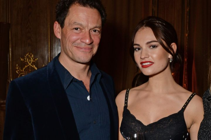 Dominic West, Lily James.