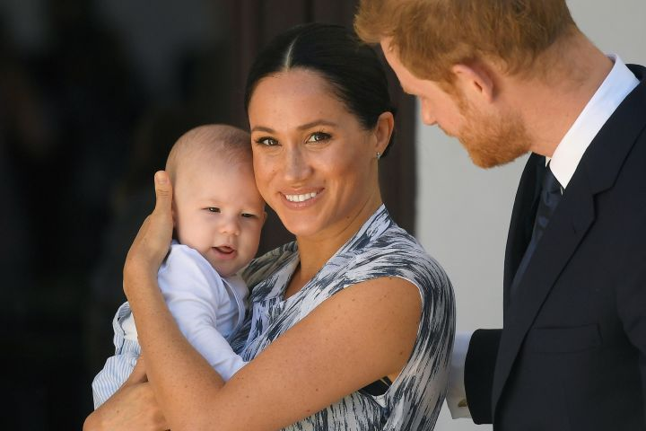 Prince Harry, Meghan Markle and Archie.