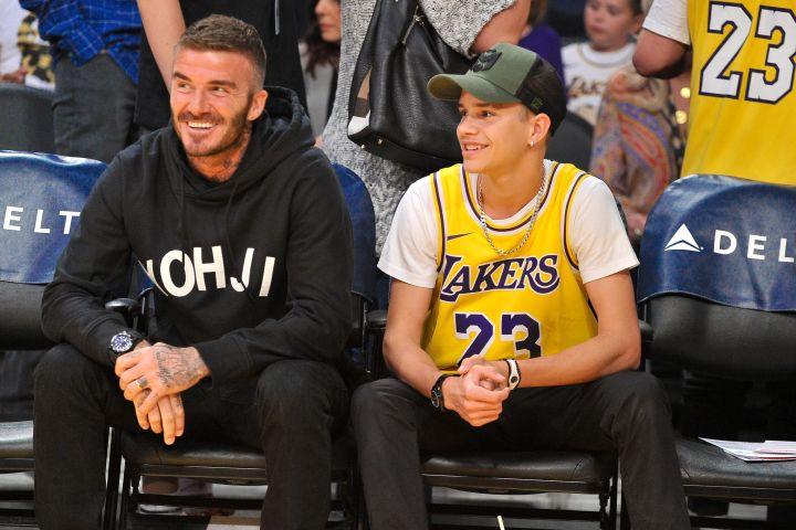 David and his son Romeo Beckham.