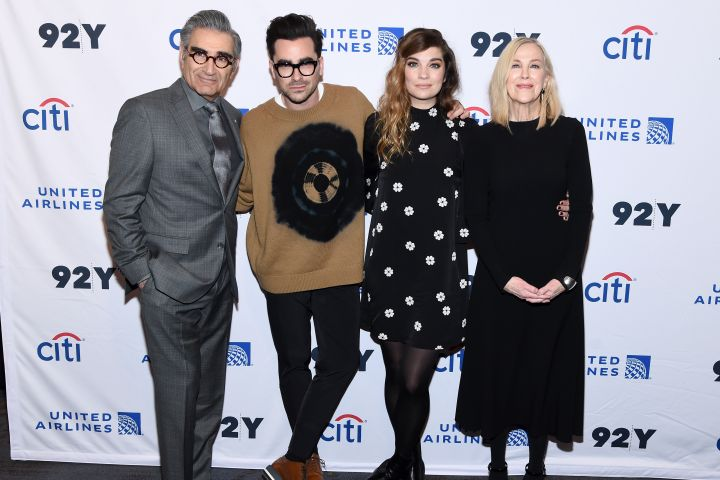 Eugene Levy, Daniel levy, Annie Murphy and Catherine O'Hara.