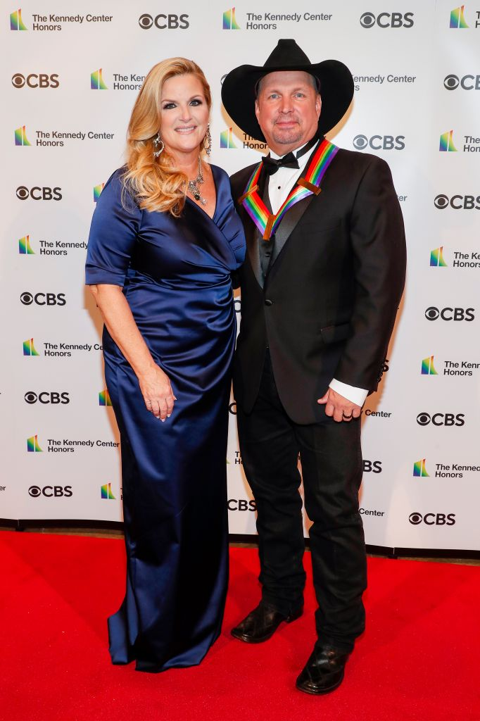 Trisha Yearwood and Garth Brooks attends the 43rd Annual Kennedy Center Honours at The Kennedy Center on May 21, 2021 in Washington, DC.