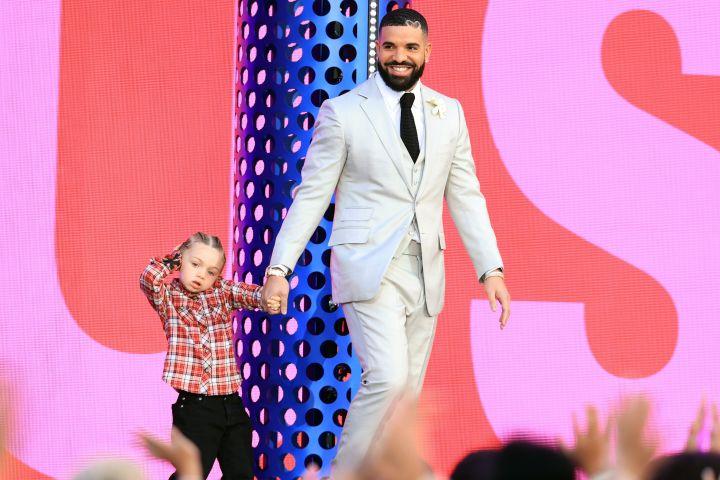 Drake and son Adonis.