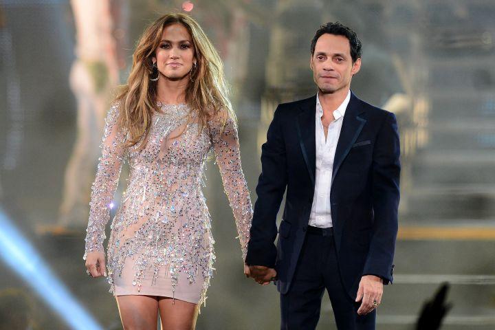 Jennifer Lopez and singer Marc Anthony