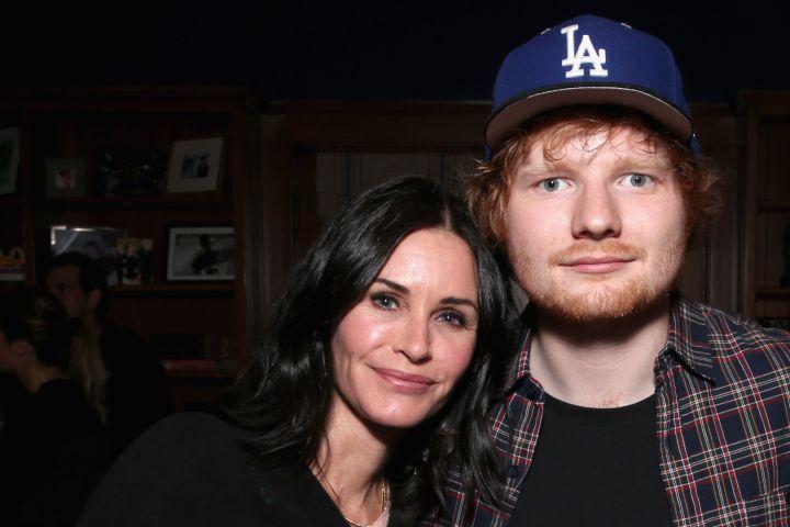 Courtney Cox, Ed Sheeran