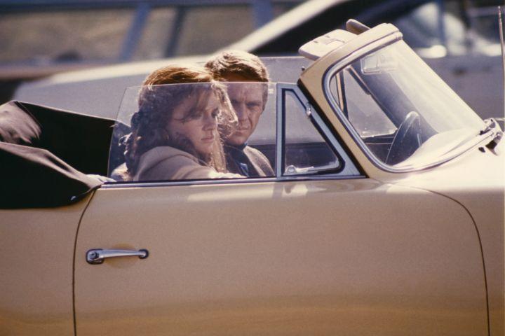 British actress Jacqueline Bisset and American actor Steve McQueen on the set of Bullitt