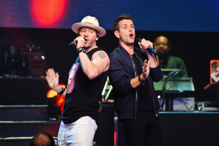 Donnie Wahlberg and Joey McIntyre perform at Generation Rescue's Go Home With Donnie Again.