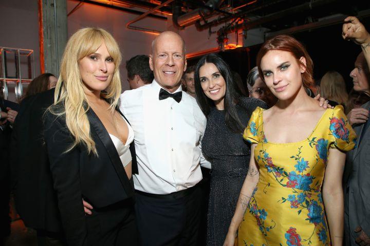 Rumer Willis, Bruce Willis, Demi Moore and Tallulah Belle