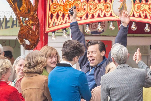 Harry Styles & Emma Corrin Play Carnival Games