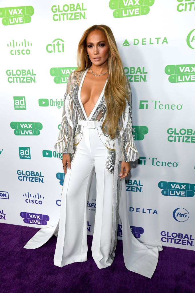 Jennifer Lopez. (Photo by Kevin Mazur/Getty Images for Global Citizen Vax Live)