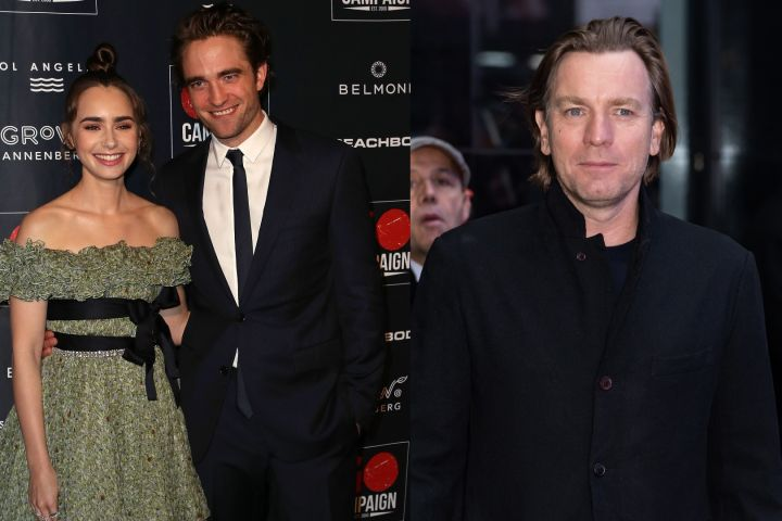 Lily Collins, Robert Pattinson, Ewan McGregor.