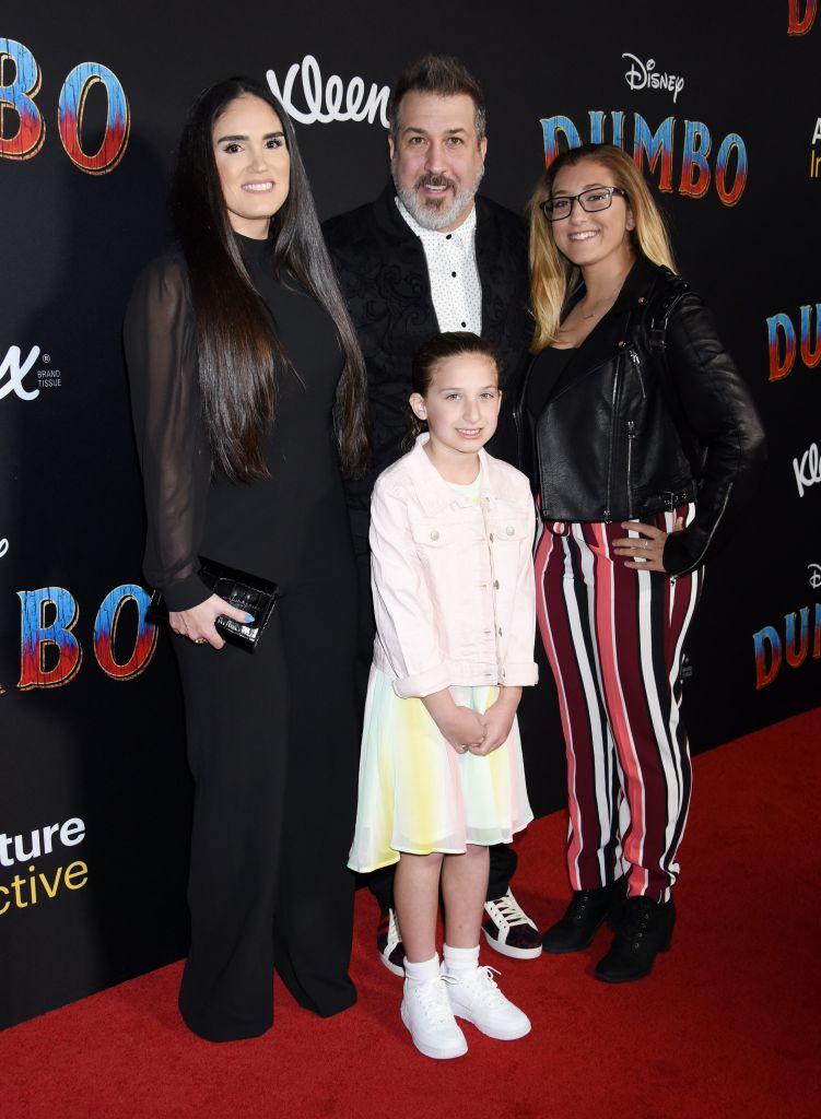 Joey Fatone, Izabel Araujo, Briahna Fatone and Kloey Fatone. Photo: CPImages