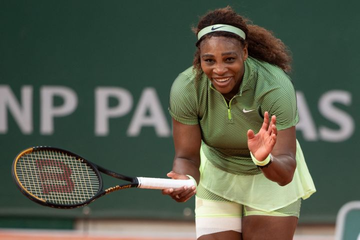 Serena Williams plays her French Open's second round at Roland Garros stadium on June 2, 2021