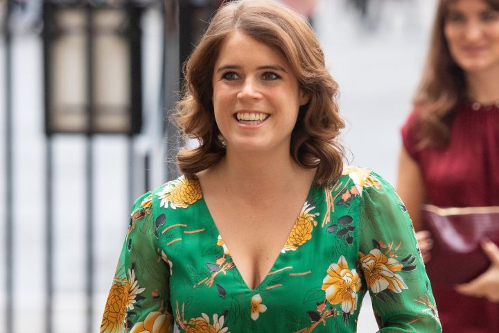 Princess Eugenie arrives for a visit to Westminster Abbey, London, as part of a day on combating modern slavery.
