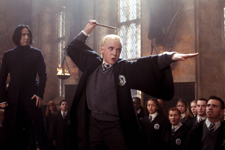 """Tom Felton as Draco Malfoy in """"Harry Potter And The Chamber Of Secrets"""""""