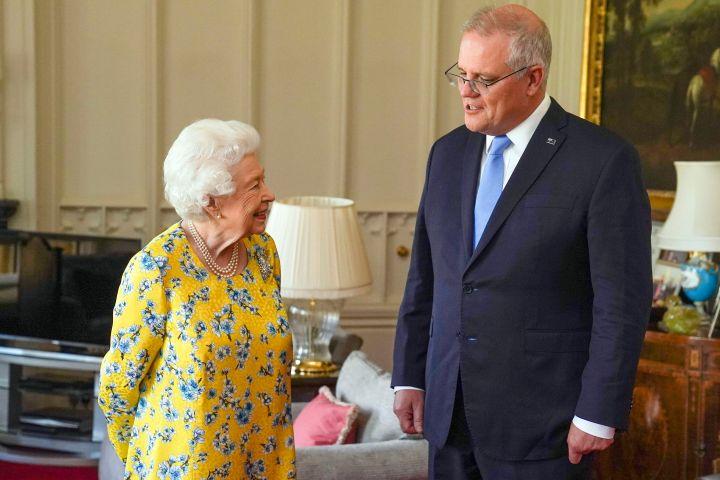 Queen Elizabeth II, Australian PM Scott Morrison.