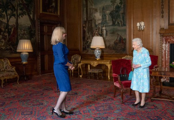 Queen Elizabeth Greets Presiding Officer