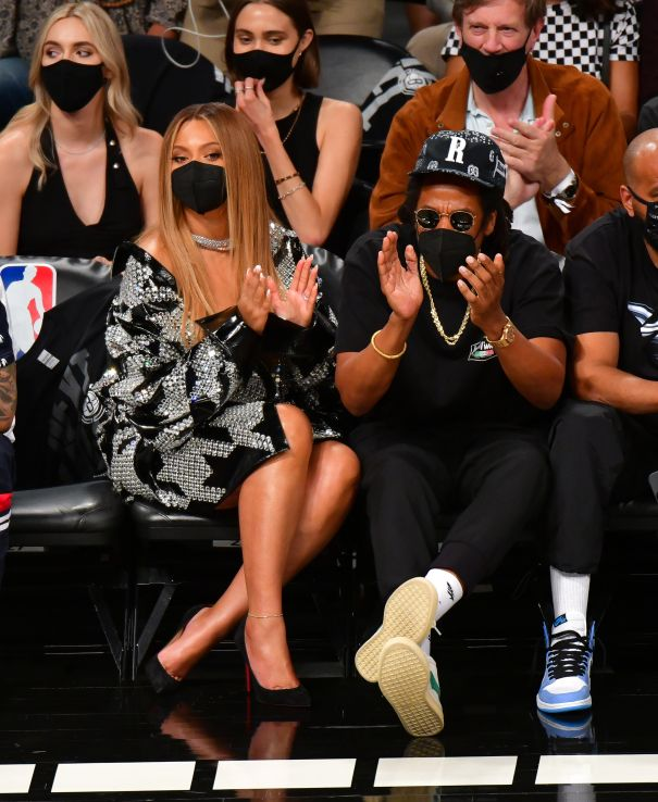Beyonce and Jay-Z Watch The Brooklyn Nets