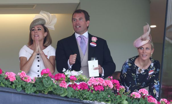 Zara Tindall, Peter Phillips Take In A Race