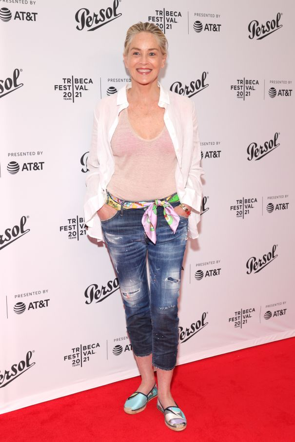 Sharon Stone Steps Out For Tribeca