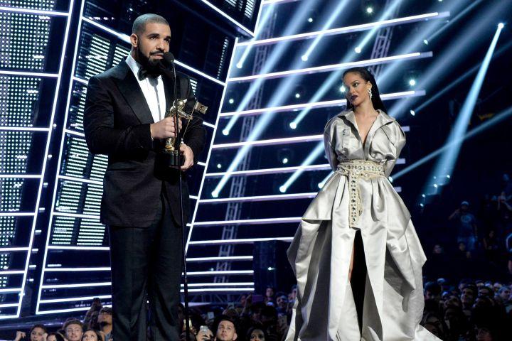 Drake, Rihanna.