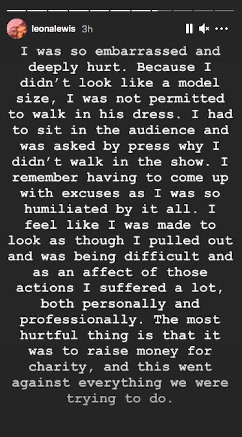Leona Lewis/Instagram