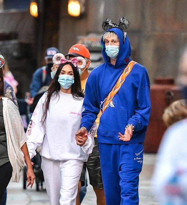 Megan Fox And Machine Gun Kelly In Disneyland