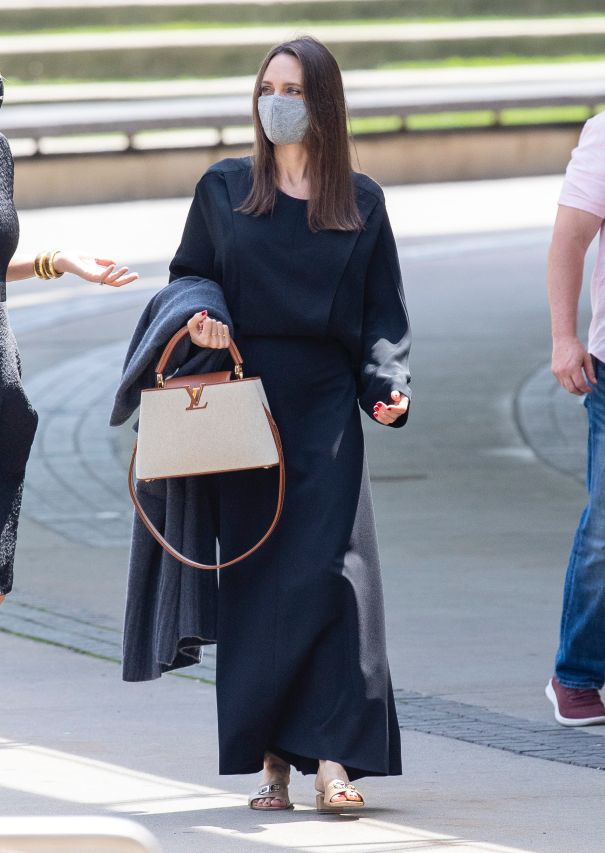 Angelina Jolie In All Black