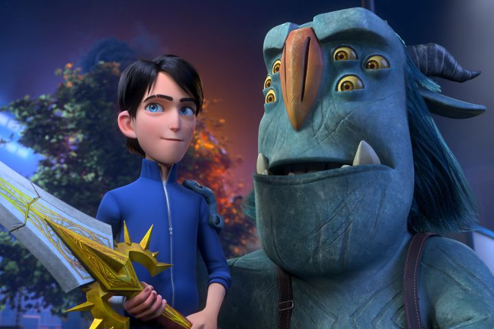 'Trollhunters: Rise Of The Titans' – (L-R) Jim (voiced by Emile Hirsch) and Blinky (voiced by Kelsey Grammer) – Photo: DreamWorks Animation © 2021