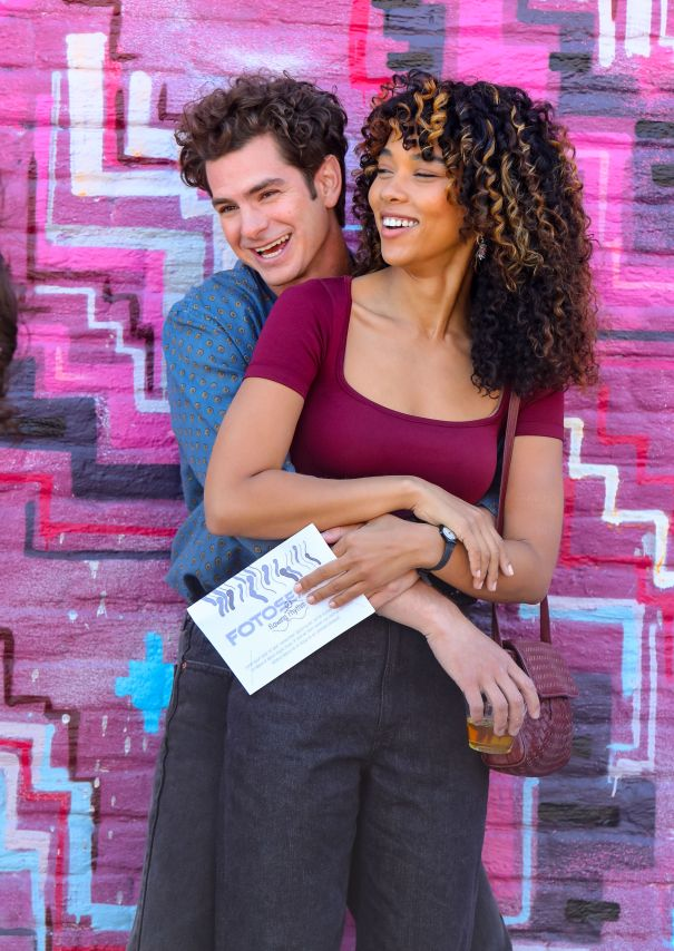 Andrew Garfield And Alexandra Shipp Look Loved-Up On Set Of 'Tick, Tick... Boom!'