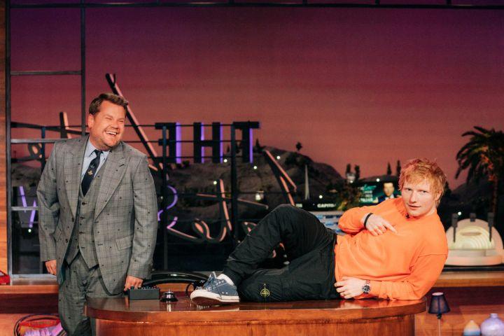 James Corden, Ed Sheeran. Photo: Terence Patrick 2021 CBS