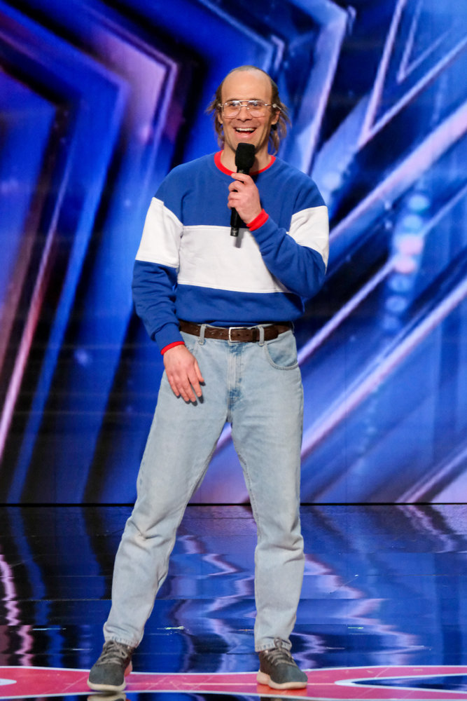 """Keith Apicary on """"AGT"""". Photo by: Trae Patton/NBC"""
